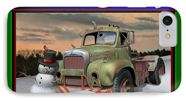 Old Mack Christmas Card IPhone Case by Stuart Swartz
