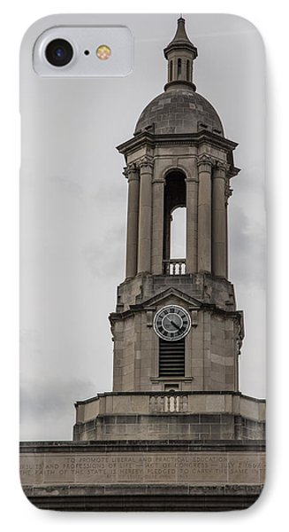 Old Main From Front Clock IPhone Case by John McGraw