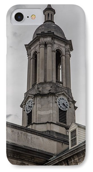 Old Main Penn State Clock  IPhone 7 Case by John McGraw