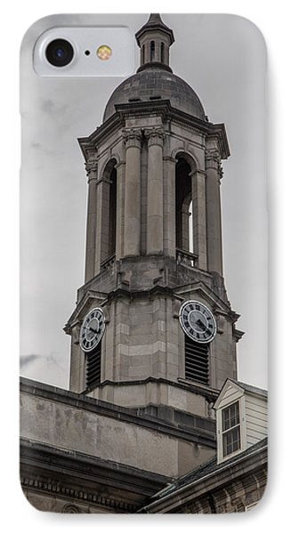 Old Main Penn State Clock  IPhone Case by John McGraw