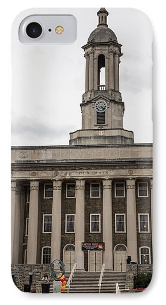 Old Main Penn State From Front  IPhone Case by John McGraw