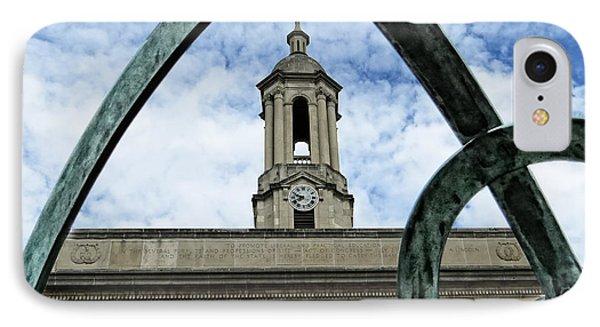 Penn State University iPhone 7 Case - Old Main Thru The Turtle by Dawn Gari