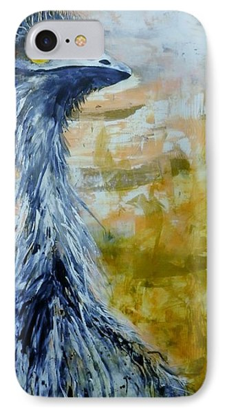 IPhone Case featuring the painting Old Man Emu by Lyn Olsen