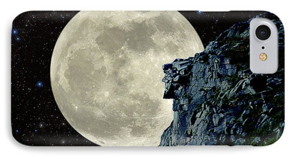 IPhone Case featuring the photograph Old Man / Man In The Moon by Larry Landolfi