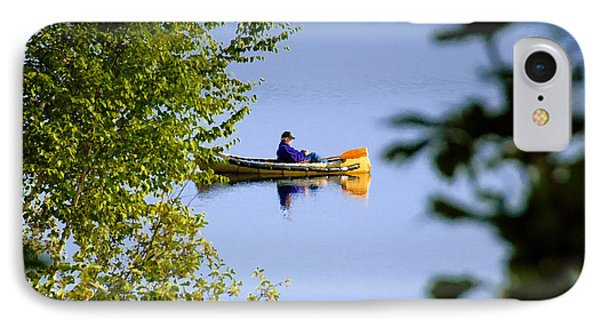 Old Man On The Lake Phone Case by David Lee Thompson