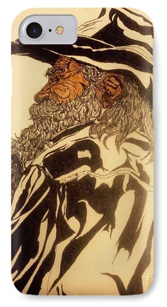 Old Man River And His Dog IPhone Case by Franky A HICKS
