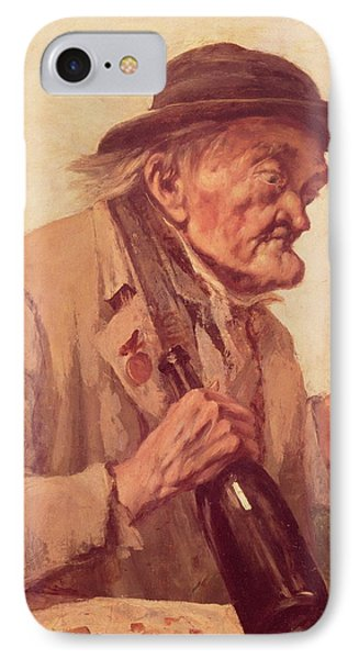 Old Man With A Glass Of Wine IPhone Case