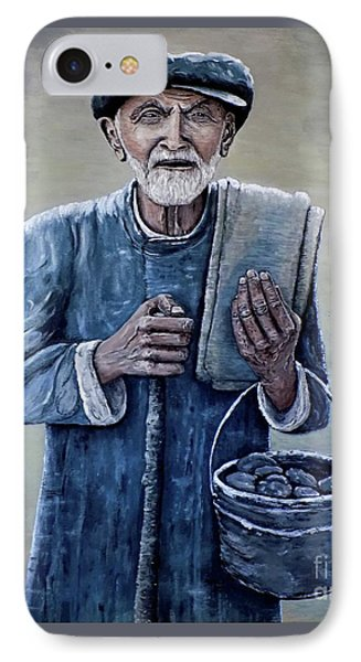 IPhone Case featuring the painting Old Man With His Stones by Judy Kirouac