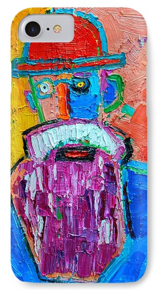 Old Man With Red Bowler Hat IPhone Case by Ana Maria Edulescu