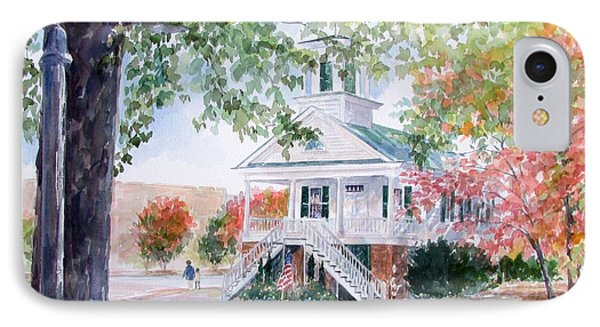 Old Market Hall Cheraw IPhone Case by Gloria Turner