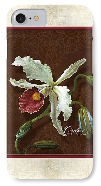 Old Masters Reimagined - Cattleya Orchid IPhone Case by Audrey Jeanne Roberts