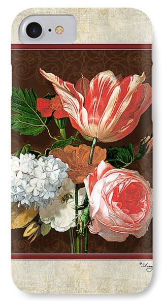 Old Masters Reimagined - Parrot Tulip IPhone Case by Audrey Jeanne Roberts