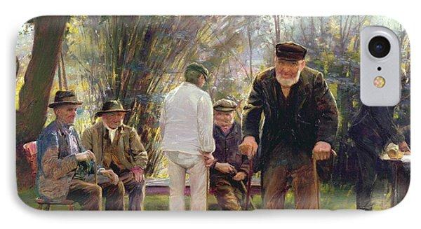 Old Men In Rockingham Park IPhone Case by Walter Bonner Gash