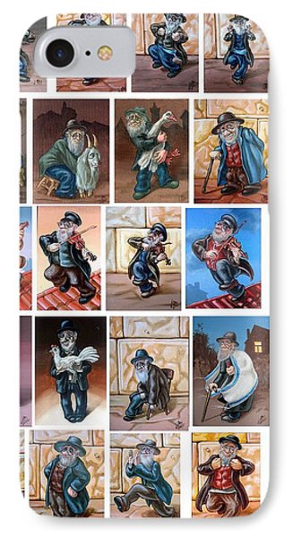 Old Men IPhone Case by Victor Molev