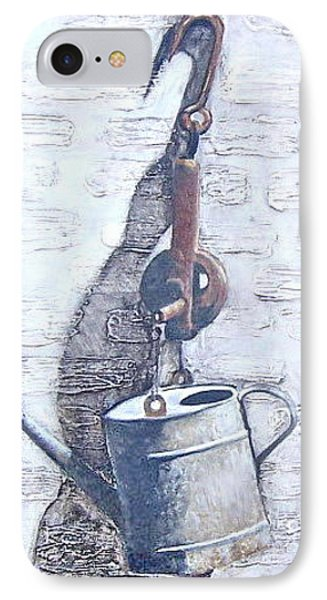 IPhone Case featuring the painting Old Metal by Natalia Tejera