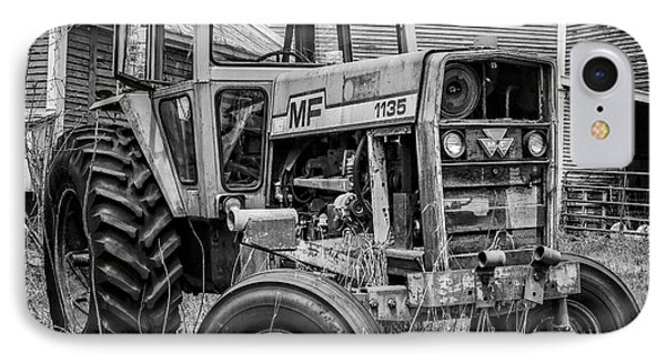 Old Mf Tractor Square IPhone Case by Edward Fielding
