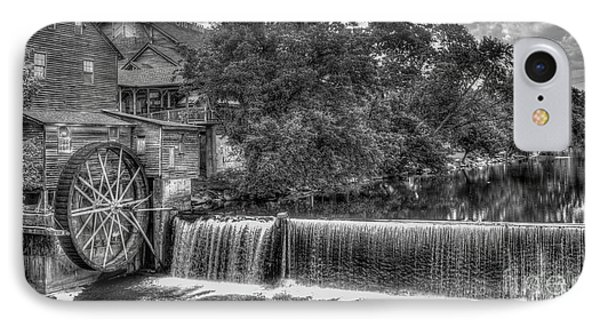Old Mill Classic B W The Pigeon Forge Mill Art IPhone Case