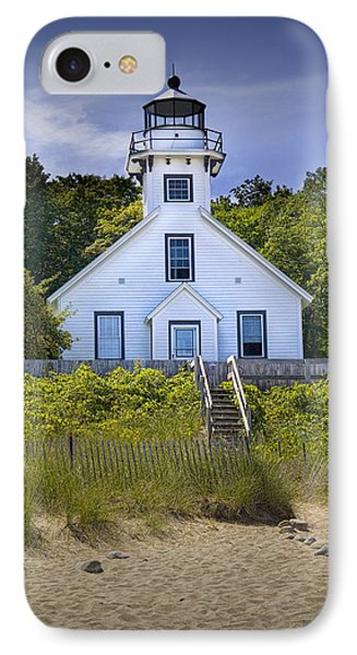 Old Mission Point Lighthouse In Grand Traverse Bay Michigan Number 2 IPhone Case by Randall Nyhof
