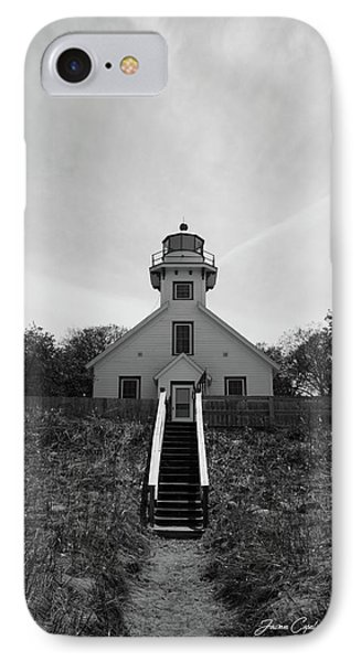 Old Mission Point Lighthouse IPhone Case by Joann Copeland-Paul