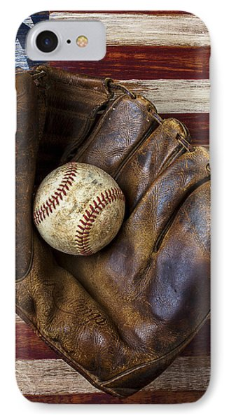 Old Mitt And Baseball IPhone Case by Garry Gay