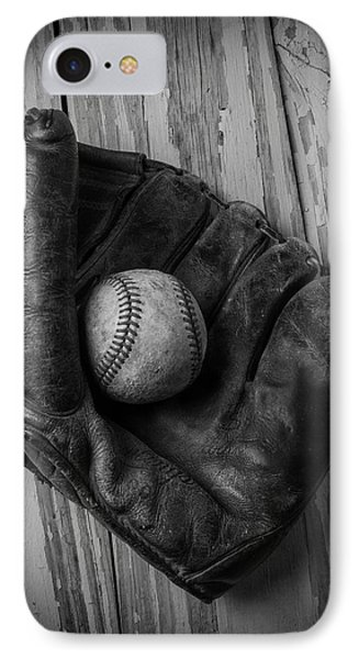Old Mitt In Black And White IPhone Case
