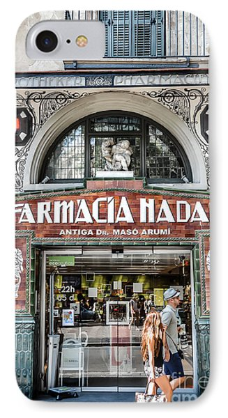 Old Modernist Pharmacy In Barcelona IPhone Case by RicardMN Photography