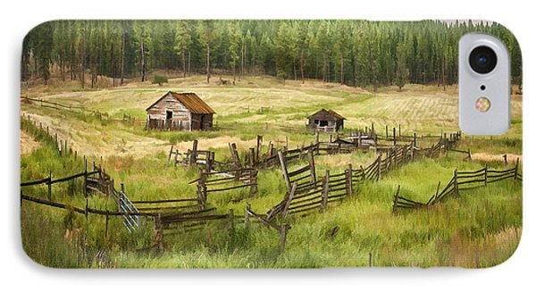 Old Montana Homestead Phone Case by Sharon Foster