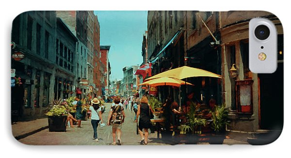 Old Montreal - Quebec IPhone Case by Maria Angelica Maira