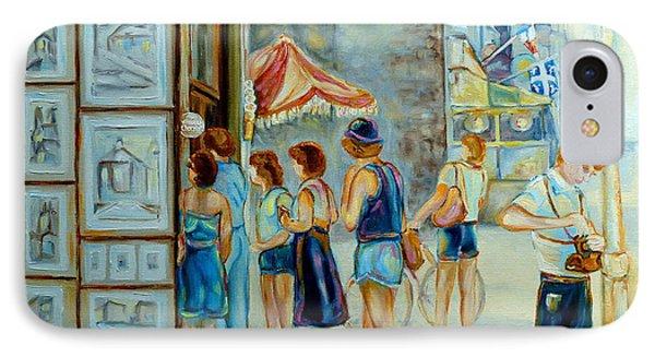 Old Montreal Street Scene Phone Case by Carole Spandau