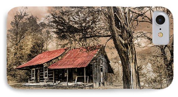 Old Mountain Cabin Phone Case by Debra and Dave Vanderlaan