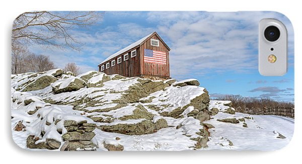 Old New England Barn In Winter IPhone Case by Bill Wakeley