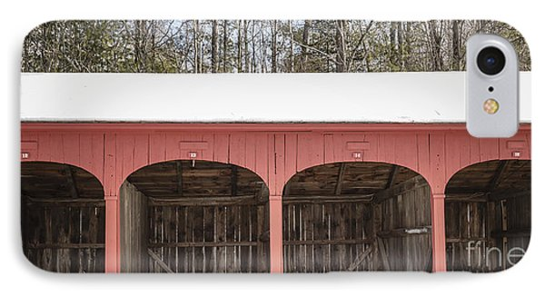 Old New England Carriage Barn IPhone Case by Edward Fielding