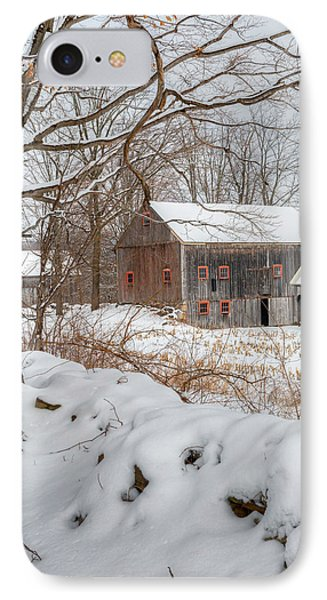 Old New England Winter 2016 IPhone Case by Bill Wakeley
