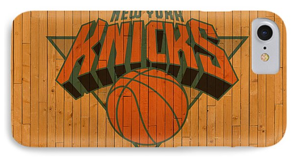 Old New York Knicks Basketball Gym Floor IPhone Case by Design Turnpike