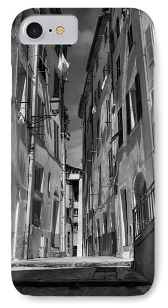 IPhone Case featuring the photograph Old Nice - Vieille Ville 001 Bw by Lance Vaughn