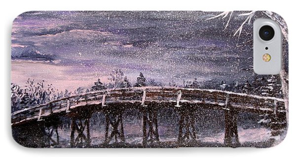 Old North Bridge In Winter IPhone Case