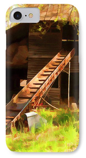 IPhone Case featuring the photograph Old North Carolina Barn And Rusty Equipment   by Wilma Birdwell