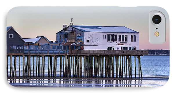 Old Orchard Beach Moonrise IPhone Case by Eric Gendron