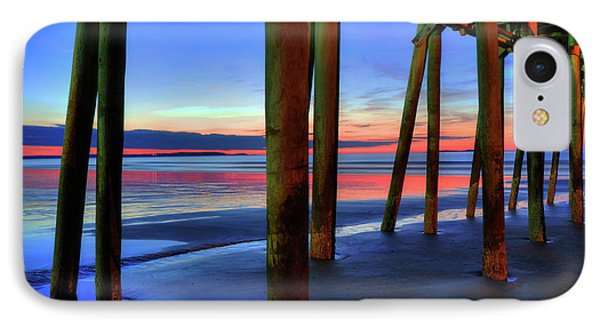 IPhone Case featuring the photograph Old Orchard Beach Pier -maine Coastal Art by Joann Vitali