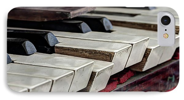 IPhone Case featuring the photograph Old Organ Keys by Michal Boubin