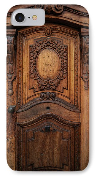 Old Ornamented Wooden Doors IPhone Case by Jaroslaw Blaminsky