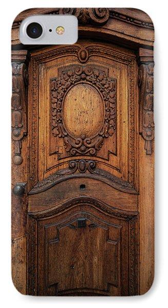 Old Ornamented Wooden Doors IPhone Case by Jaroslaw Blaminsky