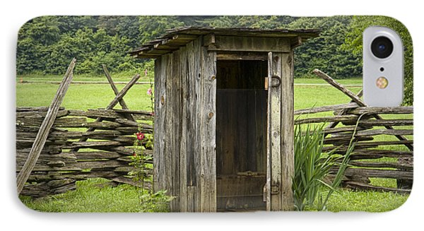 Old Outhouse On A Farm In The Smokey Mountains IPhone Case by Randall Nyhof