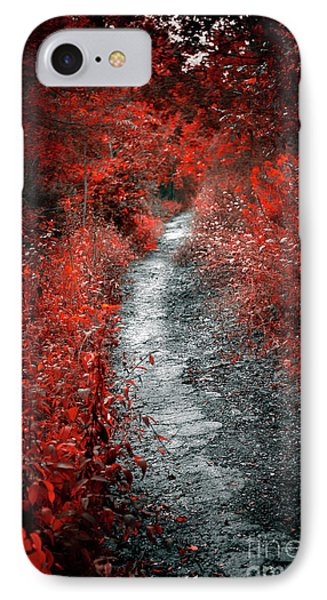 Old Path In Red Forest IPhone Case by Elena Elisseeva