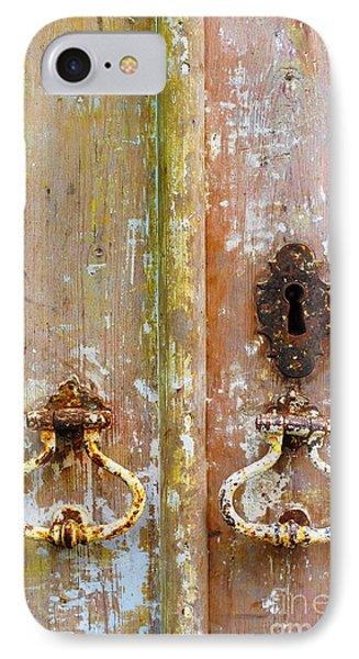 Old Peeling Door IPhone Case by Carlos Caetano