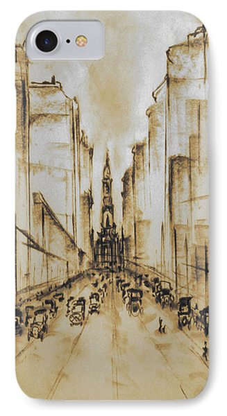 Old Philadelphia City Hall 1920 - Vintage Art IPhone Case by Art America Gallery Peter Potter