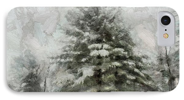 IPhone Case featuring the mixed media Old Piney by Trish Tritz