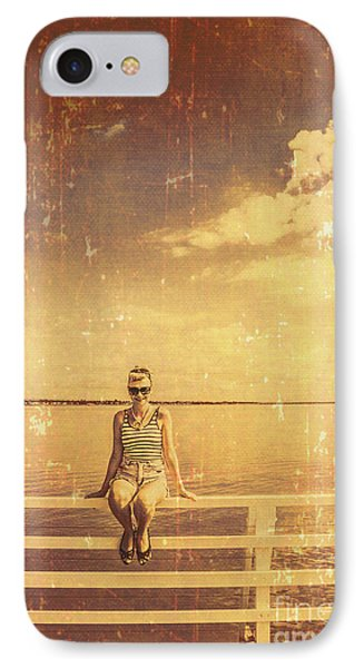 Old Pinup Girl Photo IPhone Case by Jorgo Photography - Wall Art Gallery