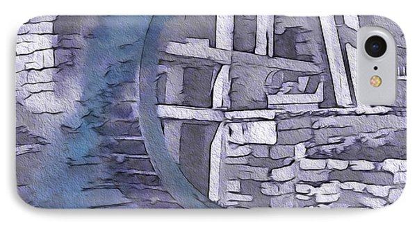 Old Pioneer Mill - Water Wheel IPhone Case by Steve Ohlsen