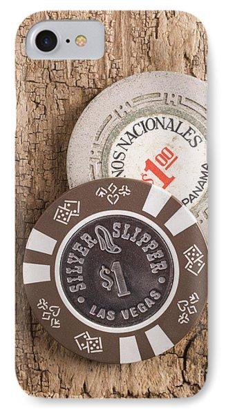 Old Poker Chips IPhone Case by Edward Fielding
